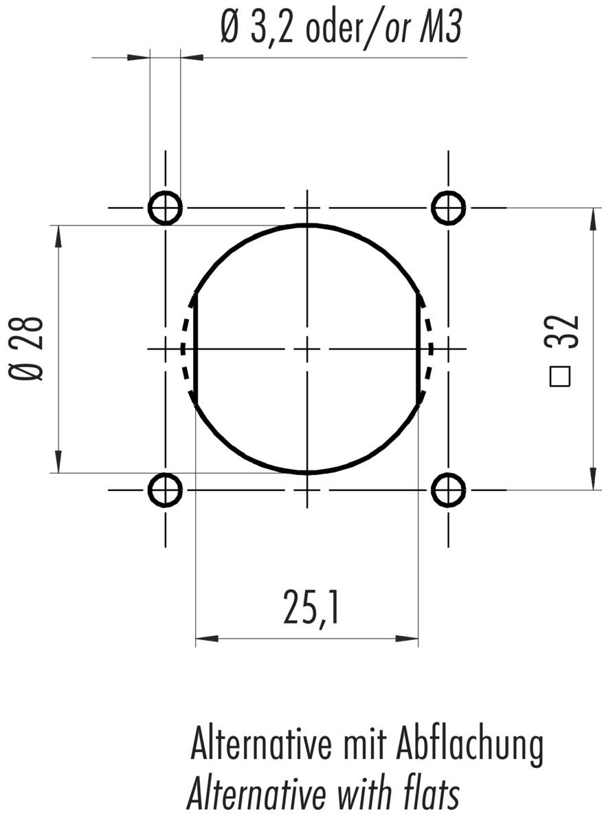 flanschdose franz binder gmbh co elektrische bauelemente kg. Black Bedroom Furniture Sets. Home Design Ideas